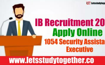 IB Recruitment 2018 - Apply Online 1054 Security Assistant/Executive Vacancies