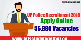 UP Police Recruitment 2018 - 56,880 Constables, Fireman, Jail Warder Vacancies
