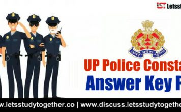 UP Police Constable Answer Key PDF – 25th Oct 2018