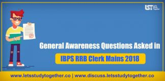 General Awareness ( GA-GK) Questions Asked in RRB Clerk Mains 2018 – Check Here