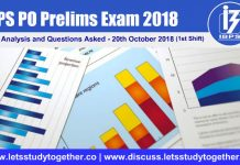 IBPS PO Prelims Exam Analysis and Questions Asked - 20th October 2018
