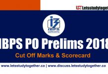 IBPS PO Prelims Scorecard & Cut-off Marks 2018 - Check Here