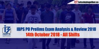 IBPS PO Prelims Exam Analysis and Questions Asked - 14th October 2018