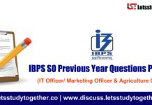 IBPS SO Previous Year Questions Paper PDF - IT Officer/ Marketing Officer & Agriculture Officer
