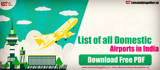 List of all Domestic Airports in India – Download PDF