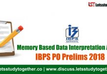 Memory Based Data Interpretation Asked in IBPS PO Prelims 2018 Set - 92