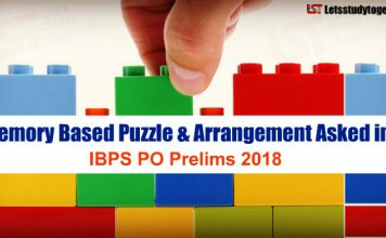 Memory Based Puzzle & Arrangement Asked in IBPS PO Prelims 2018 | Set - 149