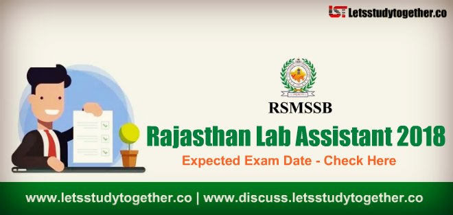 Rajasthan Lab Assistant Exam Date 2018 - Check Here