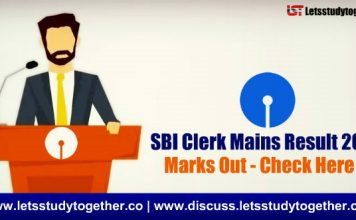 SBI Clerk Mains 2018 Marks Out - Check Here