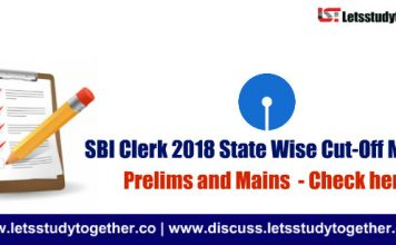 SBI Clerk Mains 2018 State Wise Cut-Off Marks - Check Here