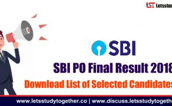 SBI PO Final Result 2018 OUT - Download List Of Selected Candidates Here