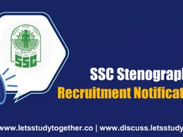 SSC Stenographer Recruitment 2018