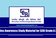 Securities Awareness Study Material for SEBI Grade A 2018 - Download PDF