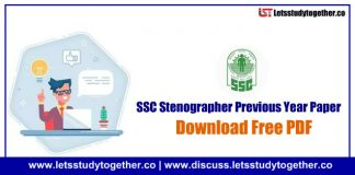 SSC Stenographer Previous Year Questions Paper PDF – Download Free Now