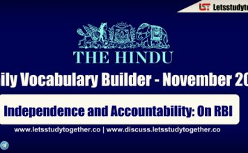 Daily Vocabulary Builder PDF BY LST - 13th November 2018