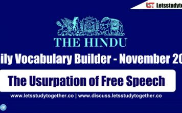 Daily Vocabulary Builder PDF BY LST - 16th November 2018