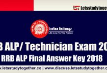 RRB ALP Final Answer Key 2018 - Check Now
