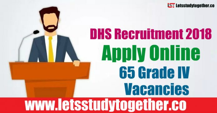 DHS Recruitment 2018 - Apply Online 65 Grade IV Vacancies