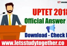 UPTET 2018 Official Answer Key Download - Check Here
