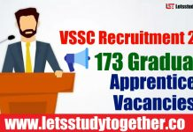 VSSC Recruitment 2018 - 173 Graduate Apprentice Vacancies