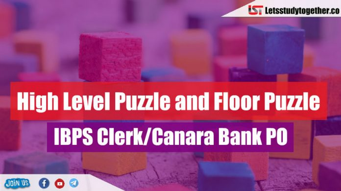 High Level Puzzle and Floor Puzzle For IBPS Clerk/Canara Bank PO