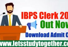 IBPS Clerk Prelims 2018 Call Letter - Check Here