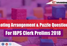 Seating Arrangement & Puzzle Questions For IBPS Clerk