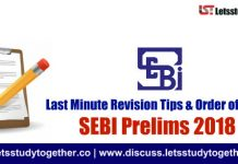 SEBI 2018 : Last Minute Revision Tips & Order of Attempt