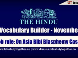 Daily Vocabulary Builder PDF BY LST - 9th November 2018