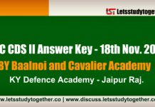 UPSC CDS II Answer Key 2018 | BY Baalnoi and Cavalier Academy