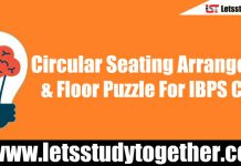 Circular Seating Arrangement & Floor Puzzle For IBPS Clerk Set - 156