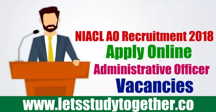 NIACL AO Recruitment 2018