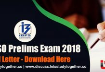 IBPS SO Prelims 2018 Call Letter - Download Here