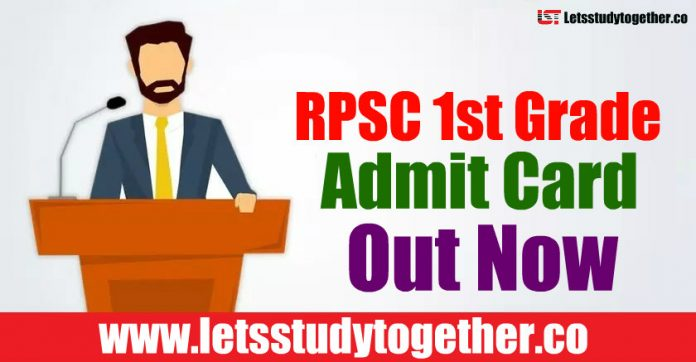 RPSC 1st Grade Admit Card 2018 Out - Download Here