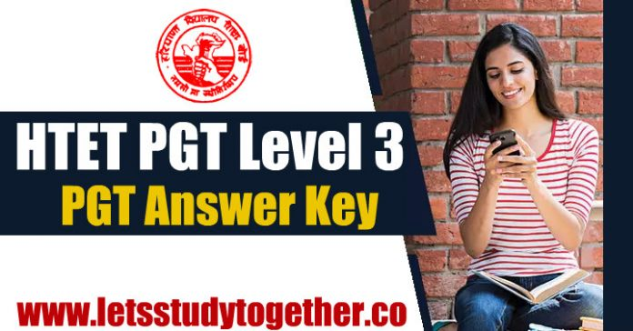 HTET PGT Level 3 Answer Key 2018 – 05th January 2019