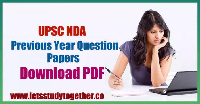 UPSC NDA Previous Year Question Papers Download PDF