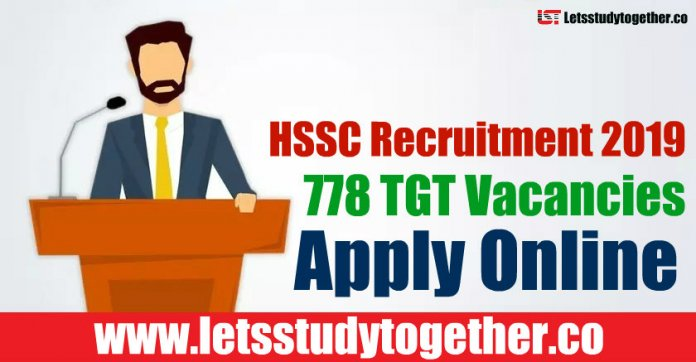 HSSC Recruitment 2019 - 778 TGT Vacancies Apply Online, Admit Card, Result