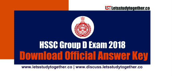 HSSC Group D Official Answer Key 2018 (All Shifts)