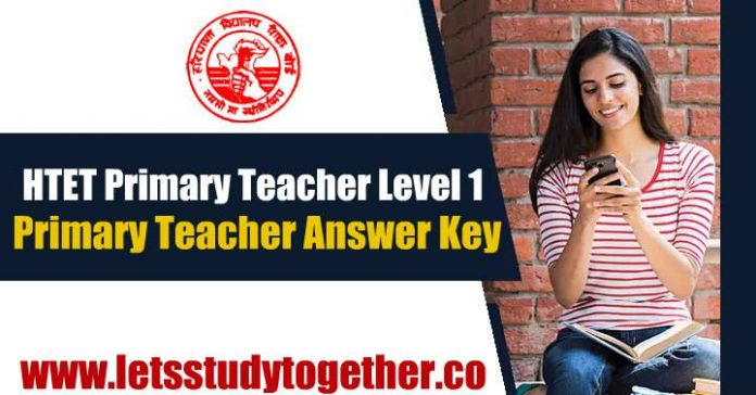 HTET Primary Teacher(PRT) Level 1 Answer Key – 06th January 2019