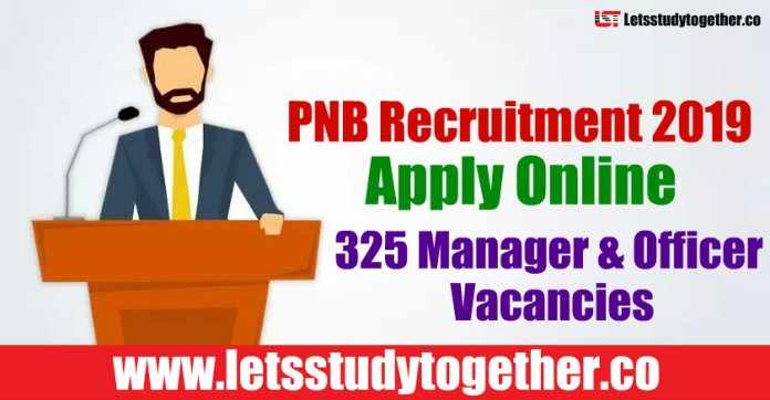 PNB Recruitment 2019 - Apply Online 325 Manager & Officer Vacancies
