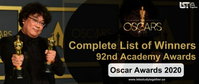 Complete List of Oscar Awards Winners 2020 : Best Movie, Actor, Actress, Director & Others