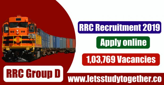 RRC Recruitment 2019 - RRC Group D Level-1 Vacancies