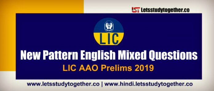 LIC AAO New Pattern English Mixed Questions
