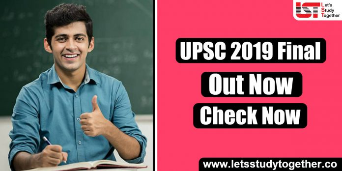 UPSC IAS 2019 Final Result Out – Download PDF List Here