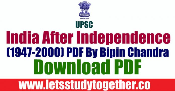 India After Independence (1947-2000) PDF By Bipin Chandra