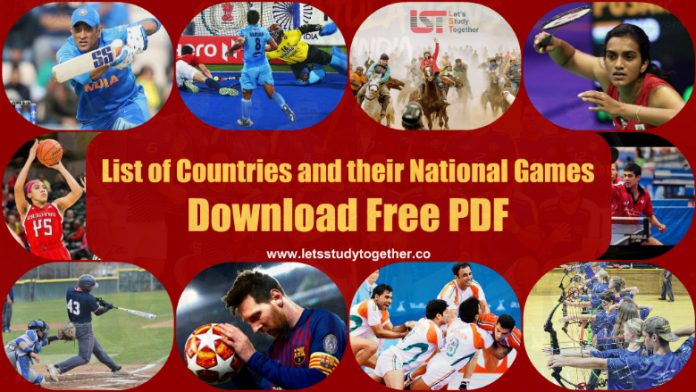 List of Countries and their National Games : Download Free PDF