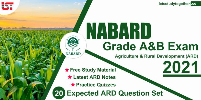 NABARD Agriculture & Rural Development (ARD) Study Material