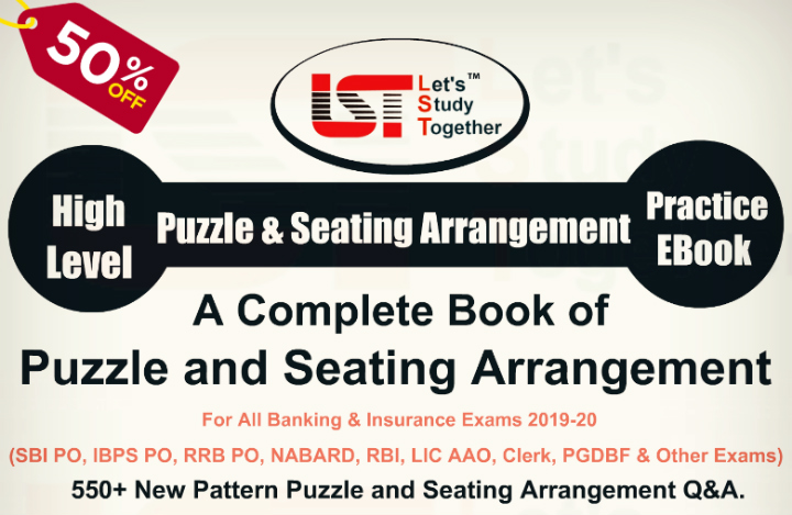 Best Book of Reasoning Puzzle and Seating Arrangement for Upcoming LIC AAO & SBI PO Mains 2019 – Download Now