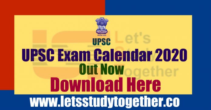 UPSC Exam Calendar 2020 Out – Download Here