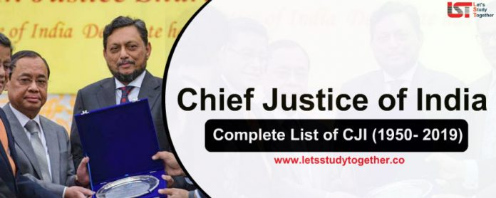 Complete List of Chief Justice of India (CJI) (1950- 2019) - Download PDF